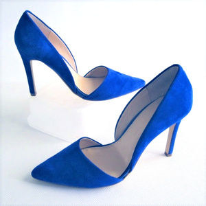 """Blue Suede Shoes 4"""" Heels size 9 Banana Repulic"""